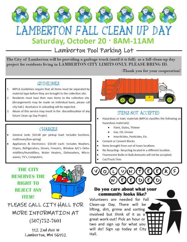Calendar of Events | City of Lamberton Minnesota